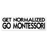 get normalized (bk) Bumper Car Sticker