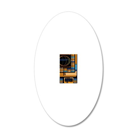 iTouch lcars 1 20x12 Oval Wall Decal