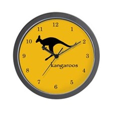 I Brake for Kangaroos Wall Clock