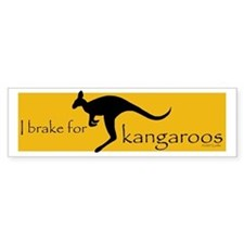 I Brake for Kangaroos Bumper Bumper Sticker