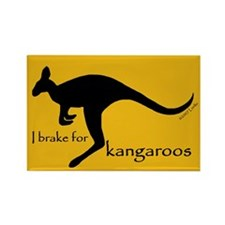 I Brake for Kangaroos Rectangle Magnet