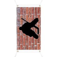 Brick Wall Hockey Goalie Banner
