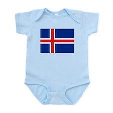 Flag Iceland Infant Bodysuit