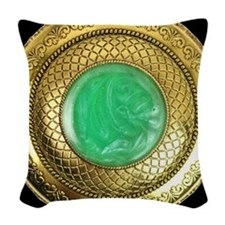 gold_and_jade_antique_watch_ap Woven Throw Pillow