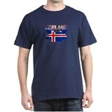 Iceland flag ribbon T-Shirt