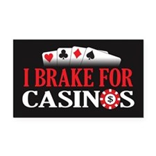 5x3breakcasino Rectangle Car Magnet