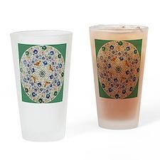 Pietra_dura_Plate_Taj_Mahal_green Drinking Glass