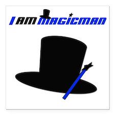 """iammagic1 Square Car Magnet 3"""" x 3"""""""
