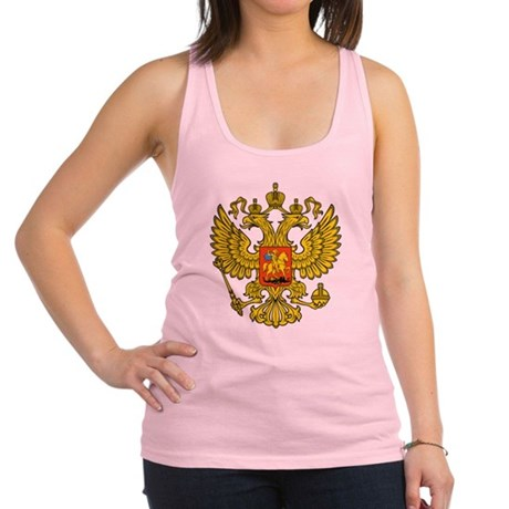 Russia Russland Logo Wappen Racerback Tank Top