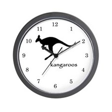 Kangaroos Wall Clock