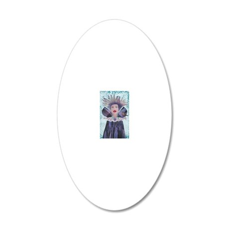Queen No Label 20x12 Oval Wall Decal