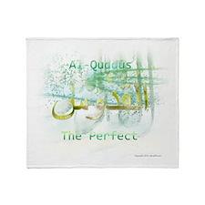 Al-Quddus_smallwhite Throw Blanket