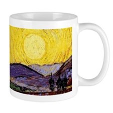 Van Gogh Fields Wraparound  Mug