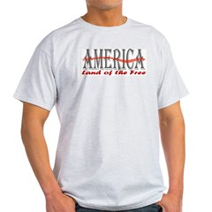 Land of the Free Patriotic Ash Grey T-Shirt
