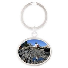 Reflection Note Card Oval Keychain