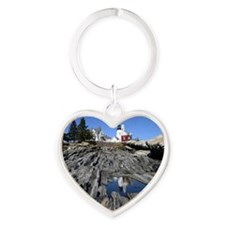 Reflection Note Card Heart Keychain