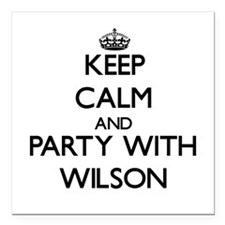 Keep Calm and Party with Wilson Square Car Magnet