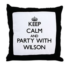 Keep Calm and Party with Wilson Throw Pillow