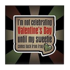Military Sweetheart Iraq Valentine Tile Coaster