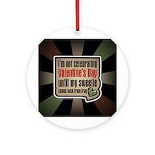Military Sweetheart Iraq Valentine Ornament (Round