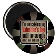 "Military Sweetheart Iraq Valentine 2.25"" Magnet (1"
