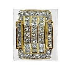 yellow_gold_and_diamonds_78_iPad_tra Throw Blanket