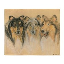 Collie Adults Throw Blanket