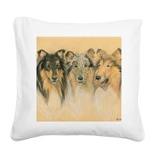 Collie Adults Square Canvas Pillow