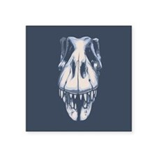"T-Rex Skull Square Sticker 3"" x 3"""