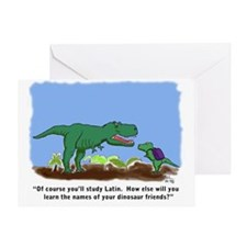 T-Rex learns Latin. Greeting Card