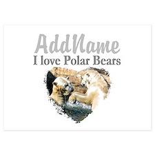 LOVE POLAR BEARS Invitations