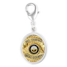 Medical Examiner Silver Oval Charm