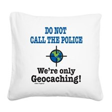 Geocach-white Square Canvas Pillow