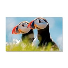 Puffin Pair 12.1x6.1 Car Magnet 20 x 12