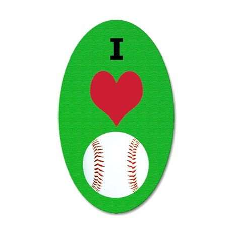 I Love Baseball Itouch2 Itou 35x21 Oval Wall Decal