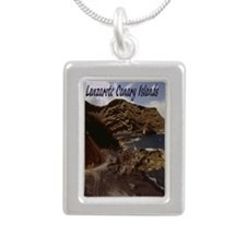 beach2.91x4.58 Silver Portrait Necklace