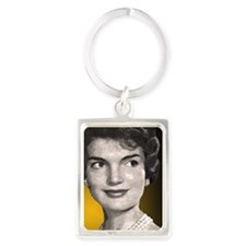 Jackie O clock close up Portrait Keychain