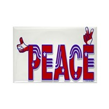 10x10peaceout Rectangle Magnet
