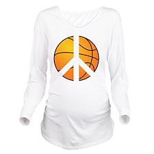 peace basketball Long Sleeve Maternity T-Shirt