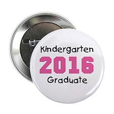 """Pink Kindergarten Grad 2014 2.25"""" Button"""
