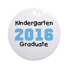 Blue Kindergarten Grad 2014 Ornament (Round)