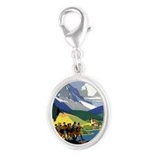 Austria Band iPad Silver Oval Charm