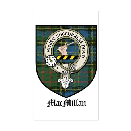 MacMillan Clan Crest Tartan Rectangle Sticker
