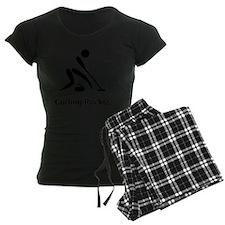 Curling Rocks Black Pajamas