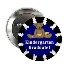 "Blue Kindergarten Graduate 2.25"" Button (10 pack)"