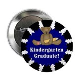 Blue Kindergarten Graduate Button