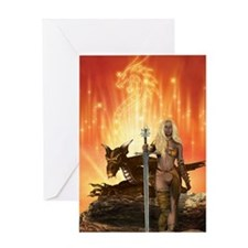 Dragon Woman Greeting Card