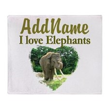 LOVE ELEPHANTS Throw Blanket