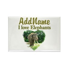 LOVE ELEPHANTS Rectangle Magnet (100 pack)