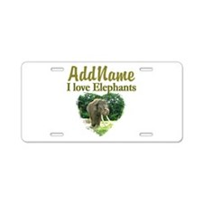 LOVE ELEPHANTS Aluminum License Plate